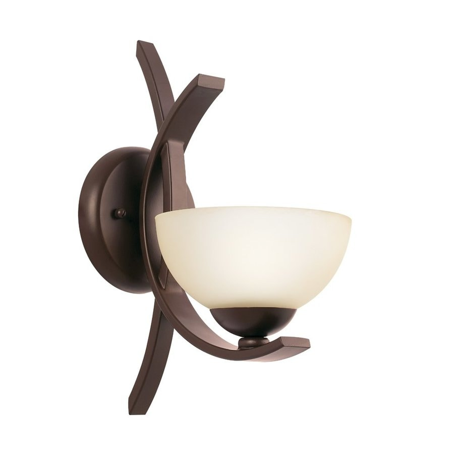 Kichler Bellamy 1-Light 13-in Olde Bronze Bowl Vanity Light