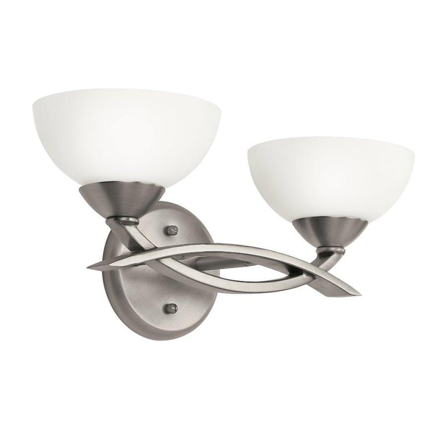 Kichler Lighting Bellamy 2-Light 7-in Antique Pewter Bowl Vanity Light