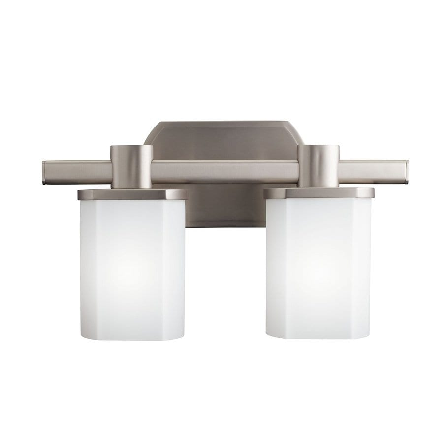 Kichler Lege 2-Light 9-in Brushed nickel Rectangle Vanity Light