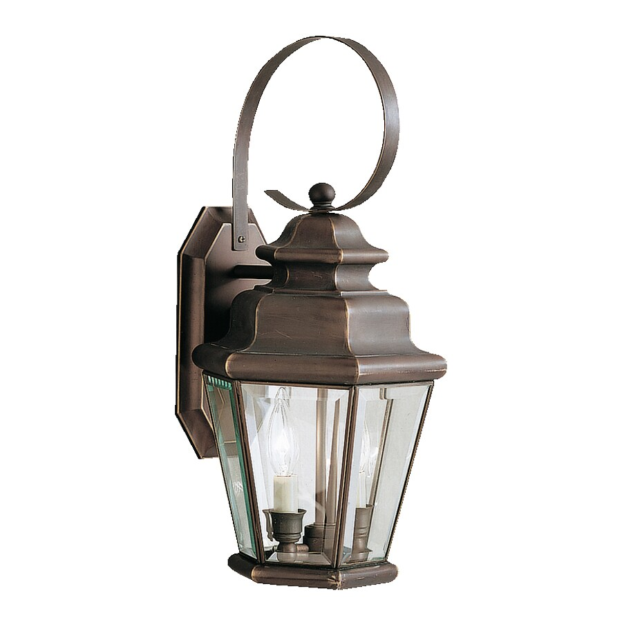 Kichler Savannah Estates 19.25-in H Olde Bronze Outdoor Wall Light