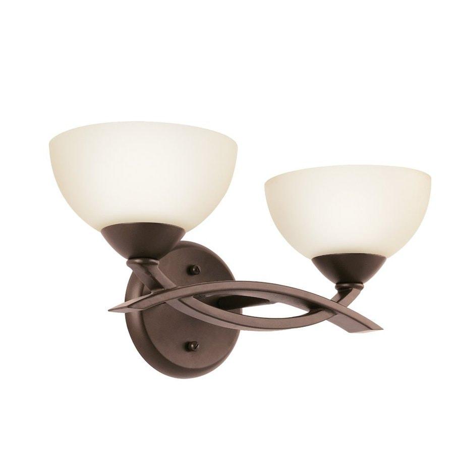 Kichler Bellamy 2-Light 7-in Olde Bronze Bowl Vanity Light
