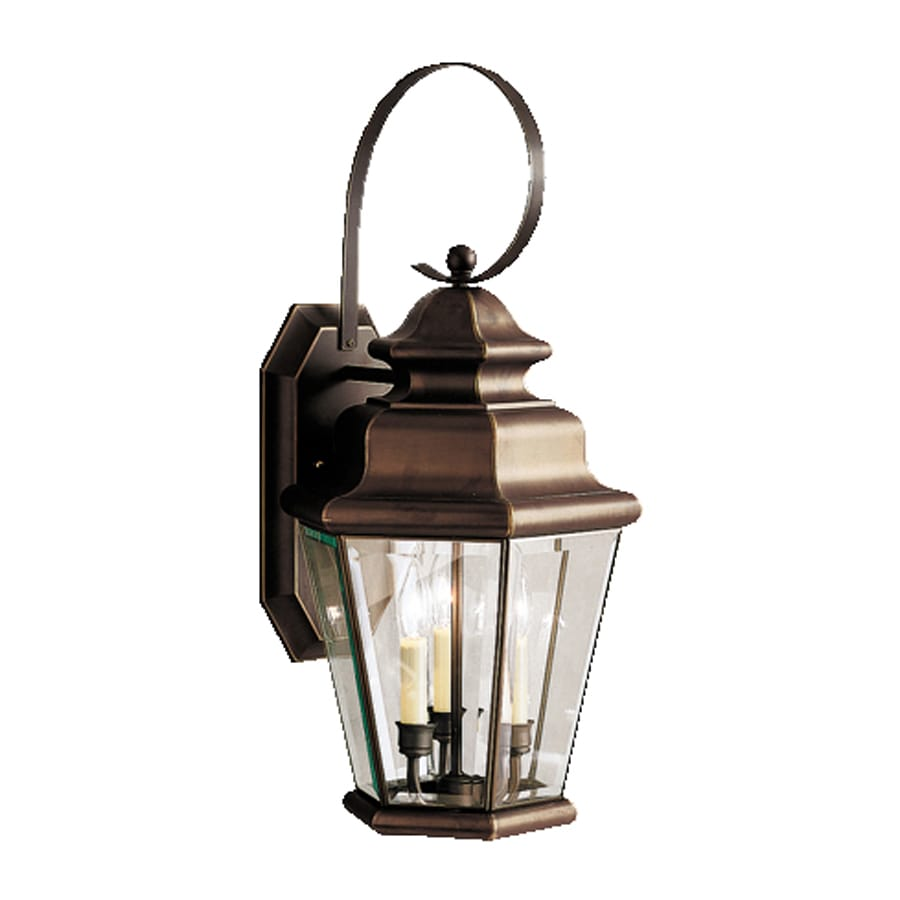 Kichler Savannah Estates 24.75-in H Olde Bronze Outdoor Wall Light