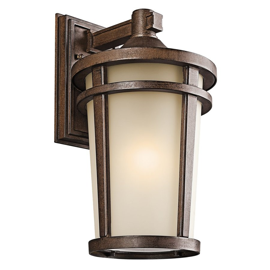 Kichler Lighting Atwood 17.75-in H Brown Stone Outdoor Wall Light