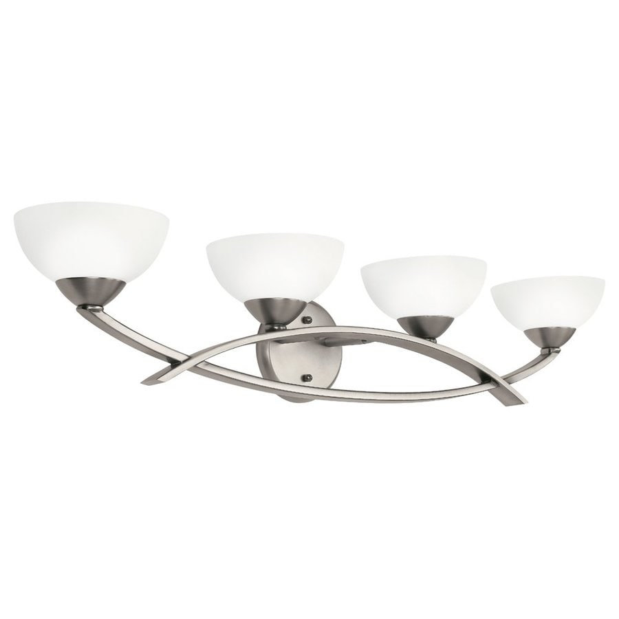 Kichler Lighting Bellamy 4-Light 7-in Antique Pewter Bowl Vanity Light