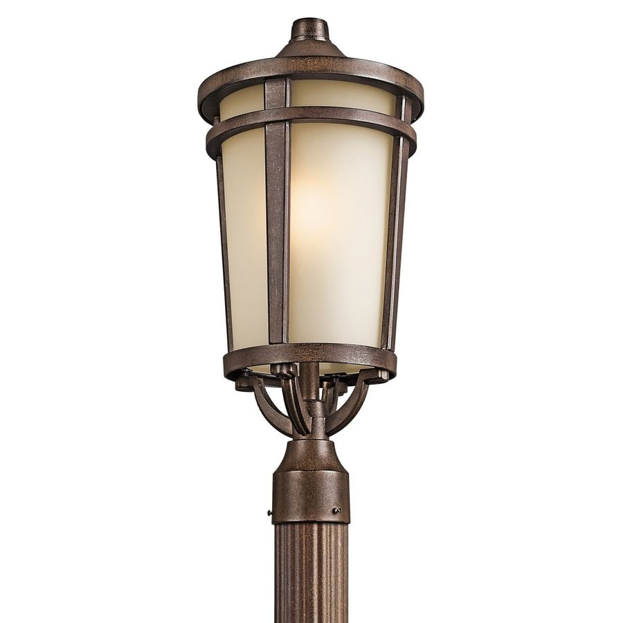 Kichler Atwood 22.25-in H Brown Stone Post Light