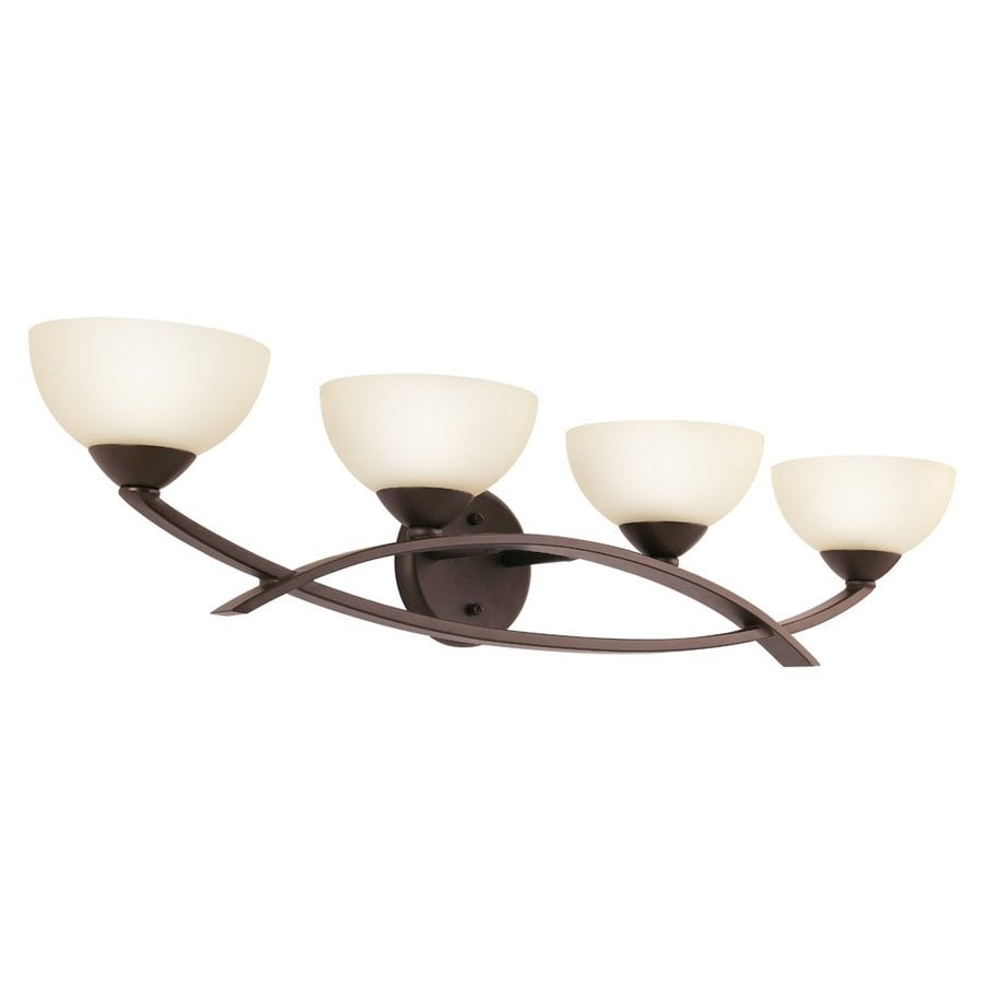 Kichler Bellamy 4-Light 7-in Olde Bronze Bowl Vanity Light
