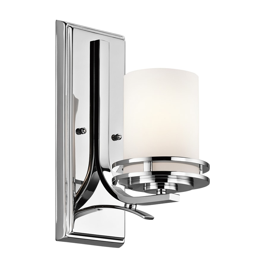 Kichler Hendrik 1-Light 12-in Chrome Cylinder Vanity Light