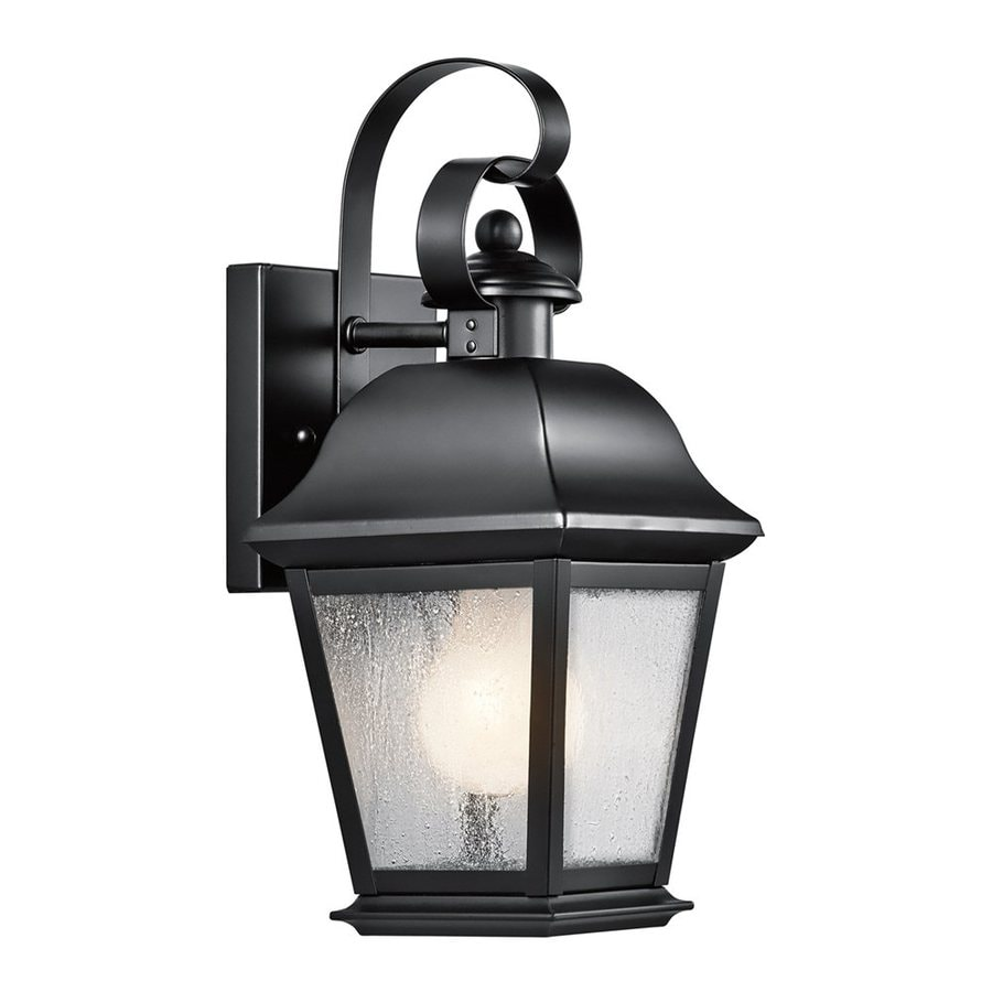 Kichler Mount Vernon 12.5-in H Black Outdoor Wall Light