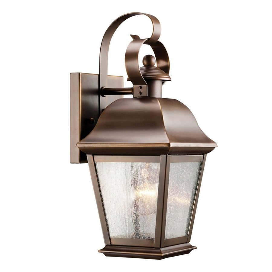 Shop Kichler Mount Vernon 12 5 In H Olde Bronze Outdoor Wall Light At