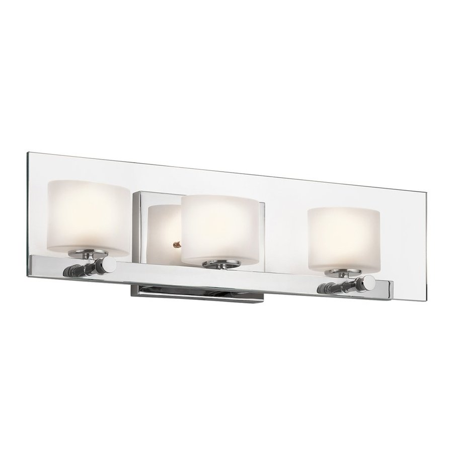 Kichler Como 3-Light 5.5-in Chrome Rectangle Vanity Light