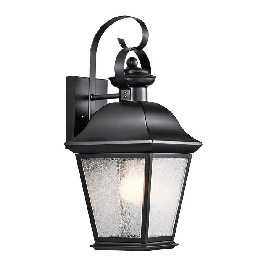 Kichler Lighting Mount Vernon 16.75-in H Black Outdoor Wall Light