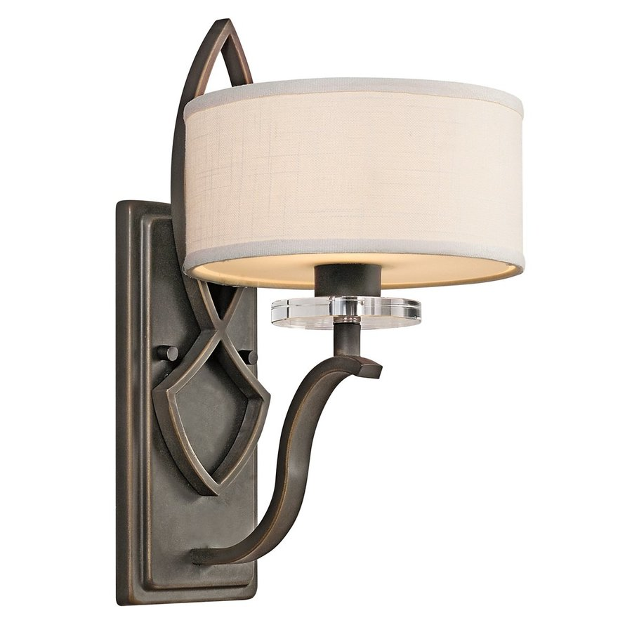 Kichler Lighting Leighton 8-in W 1-Light Olde Bronze Arm Wall Sconce