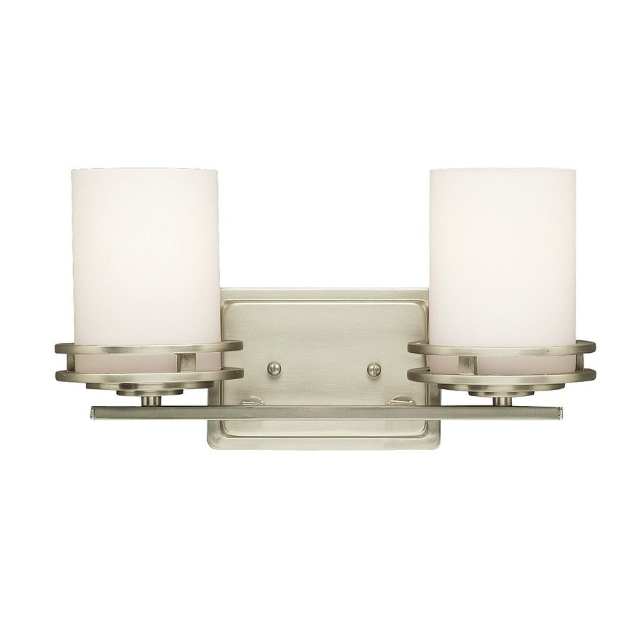 Kichler Lighting Hendrik 2-Light 7.75-in Brushed Nickel Cylinder Vanity Light
