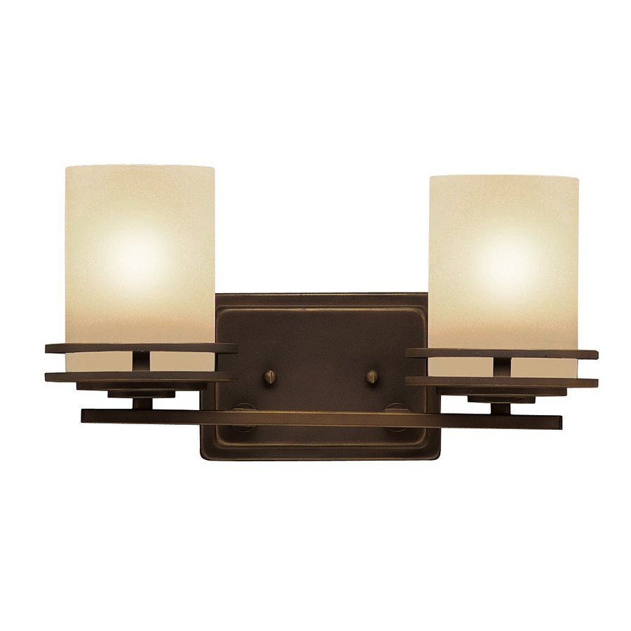 Kichler Lighting Hendrik 2-Light 7.75-in Olde Bronze Cylinder Vanity Light