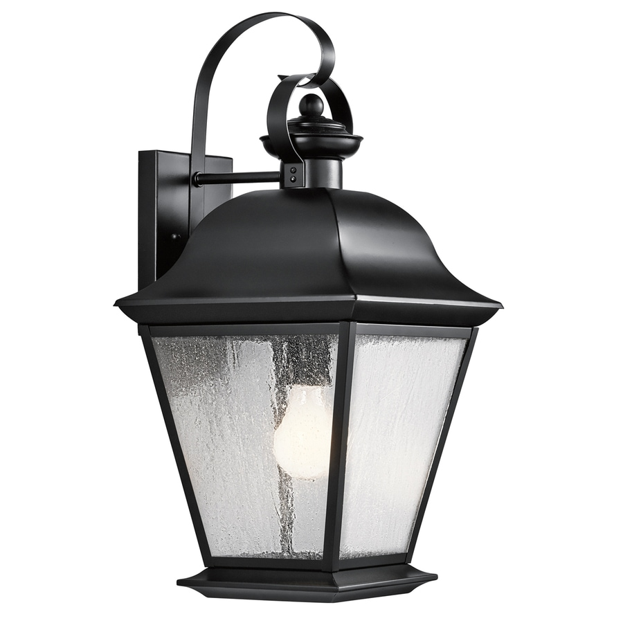 Shop Kichler Lighting Mount Vernon 19.5-in H Black Outdoor