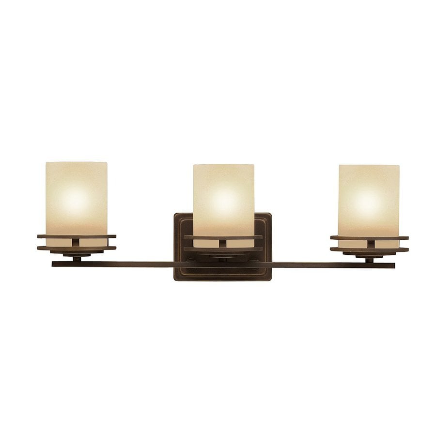 Kichler Lighting Hendrik 3-Light 7.75-in Olde Bronze Cylinder Vanity Light
