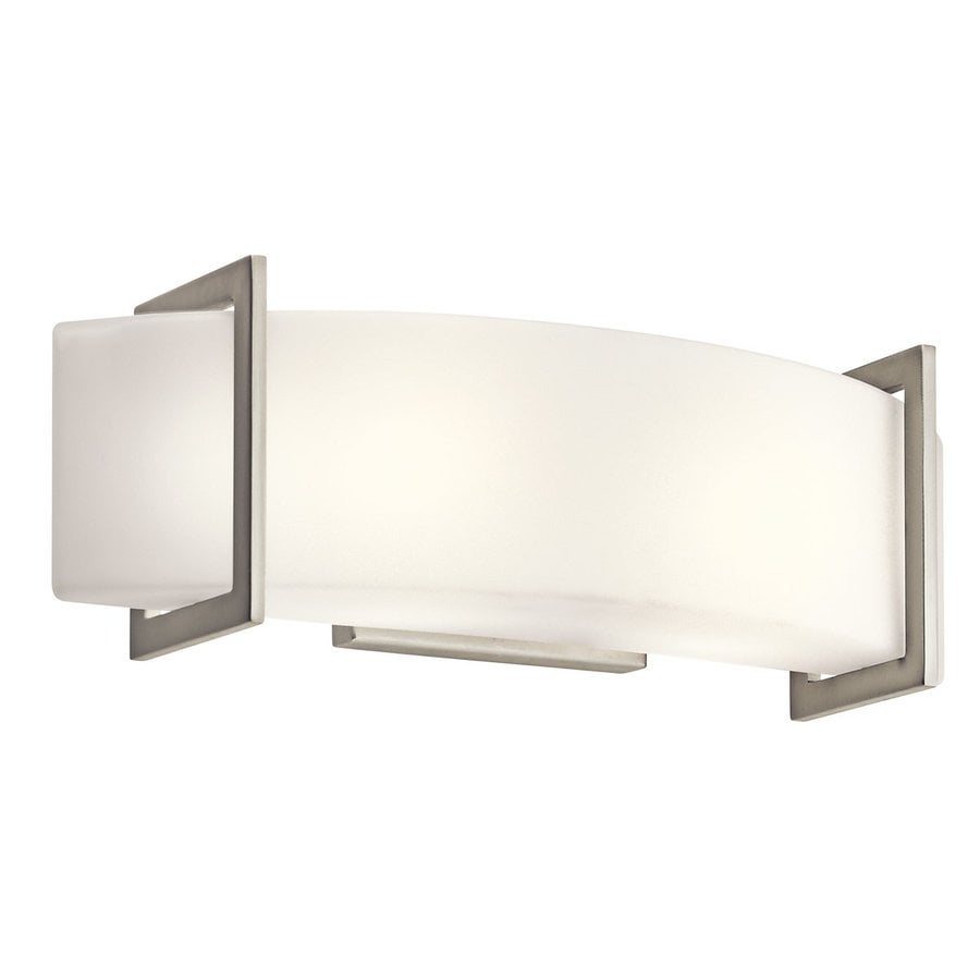 Kichler Crescent View 1-Light 6.25-in Brushed Nickel Rectangle Vanity Light