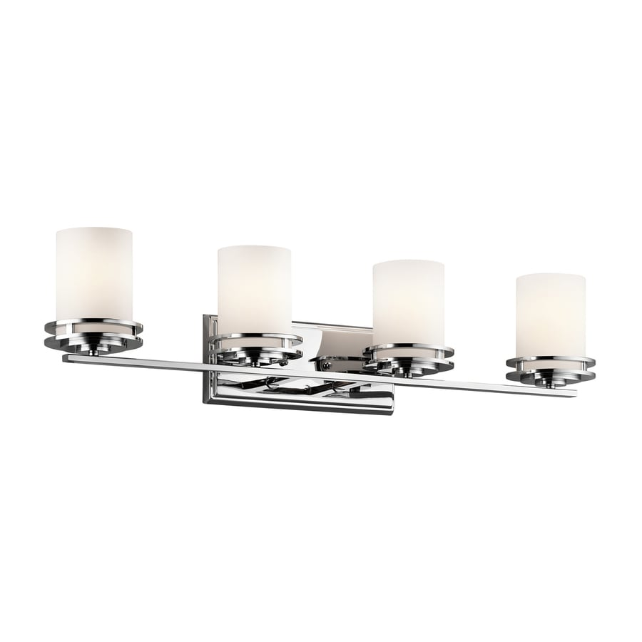 Kichler Hendrik 4-Light 7.75-in Chrome Cylinder Vanity Light