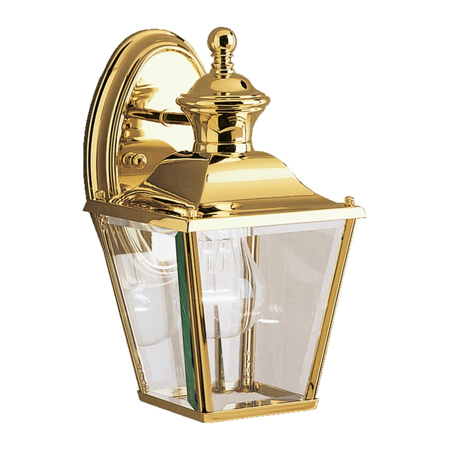 Kichler Lighting Bay Shore 10.25-in H Polished Brass Outdoor Wall Light