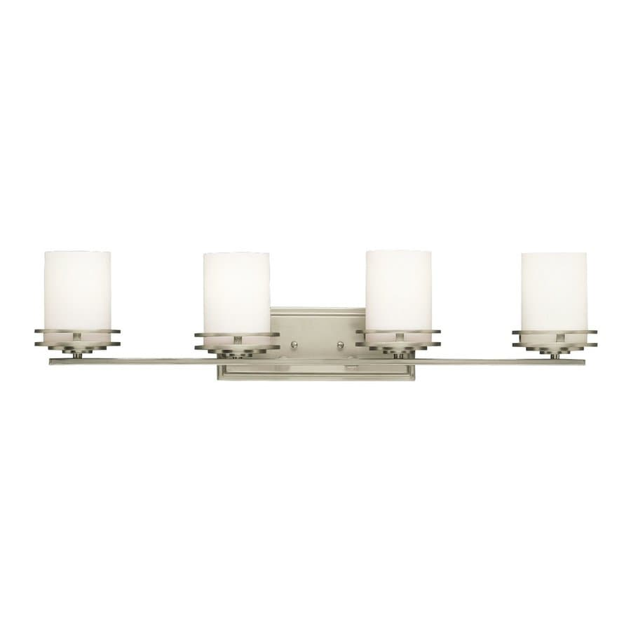 Kichler Hendrik 4-Light 7.75-in Brushed nickel Cylinder Vanity Light