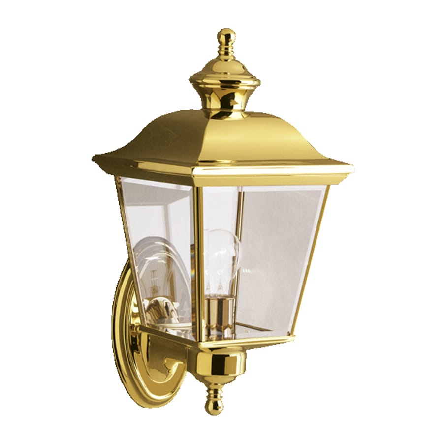 Kichler Bay Shore 15.5-in H Polished Brass Outdoor Wall Light