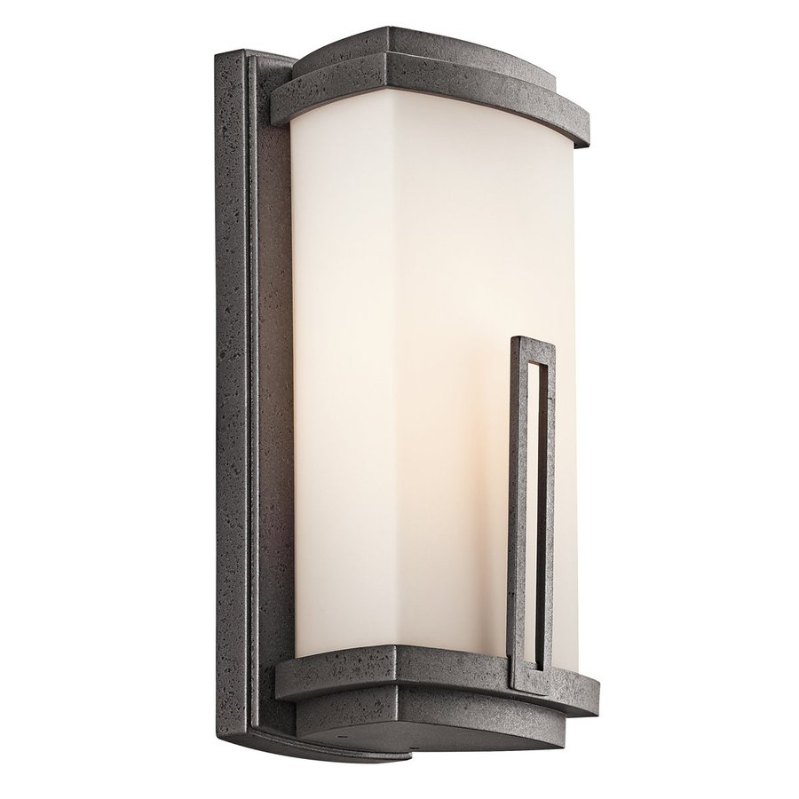 Kichler Lighting Leeds 12.25-in H Anvil Iron Fluorescent Outdoor Wall Light