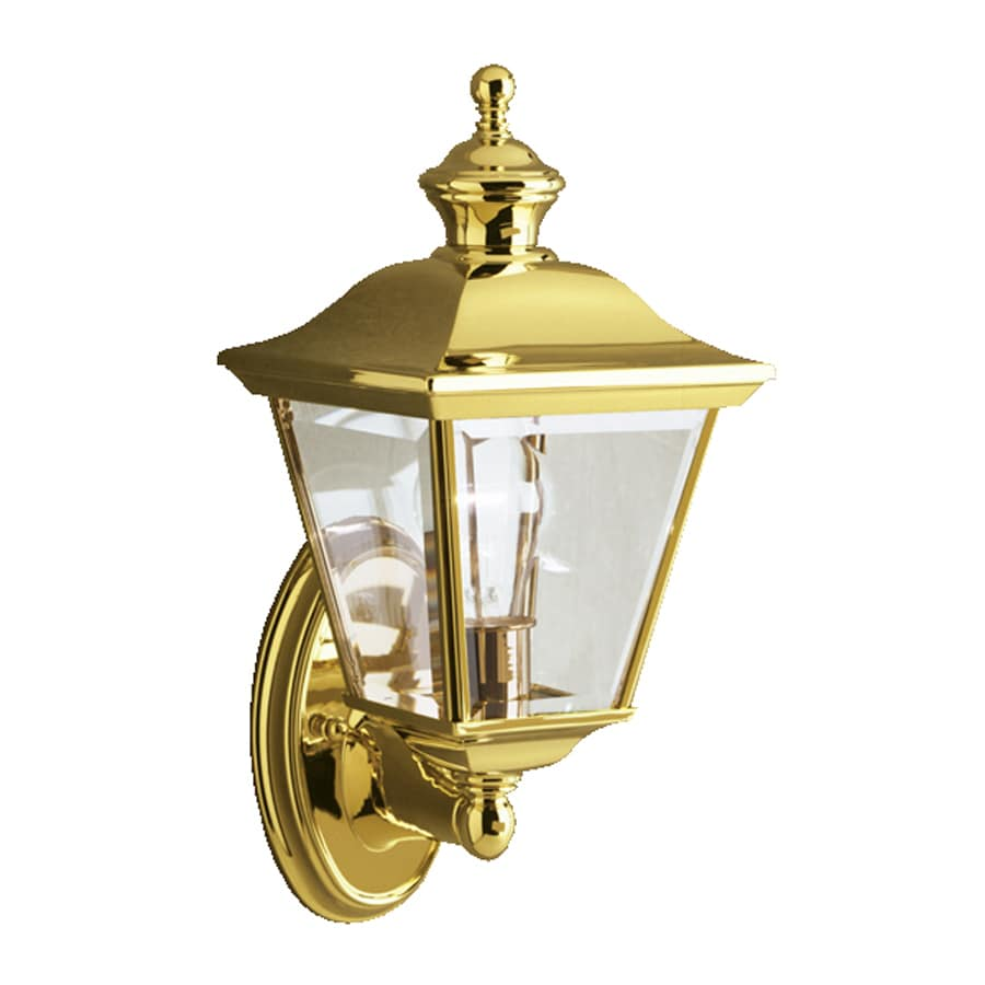 Exterior Wall Lights Brass : Shop Kichler Bay Shore 20-in H Polished Brass Outdoor Wall Light at Lowes.com