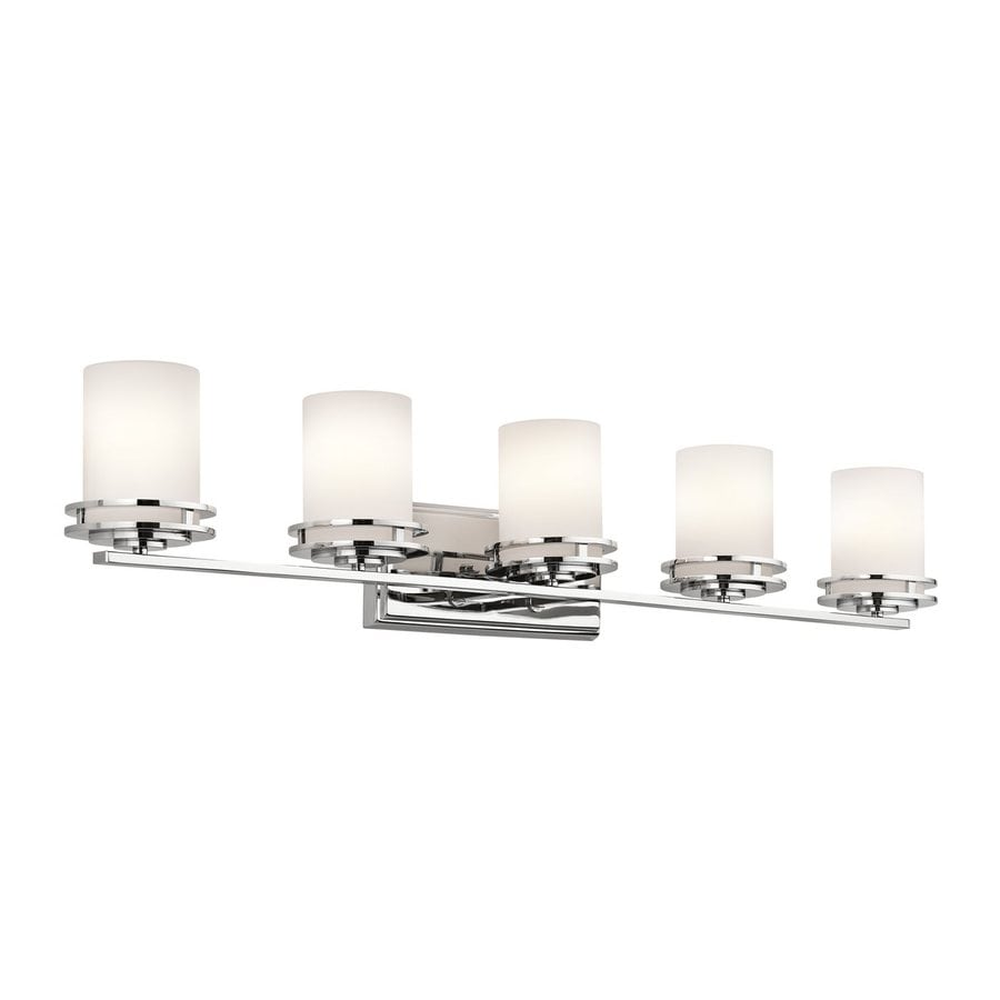 Shop Kichler Hendrik 5 Light 43 In Chrome Cylinder Vanity Light At