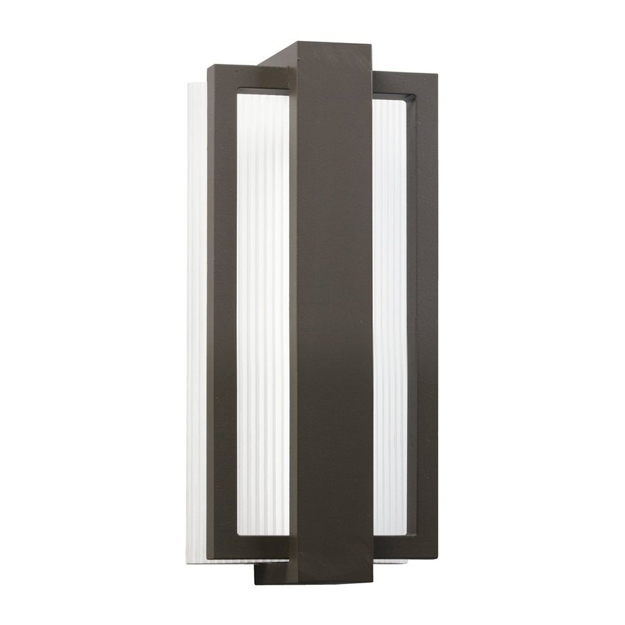 Kichler Sedo 12.25-in H Architectural Bronze LED Outdoor Wall Light