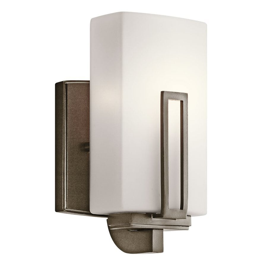 Bathroom Lights Leeds shop kichler lighting 1-light leeds shadow bronze bathroom vanity