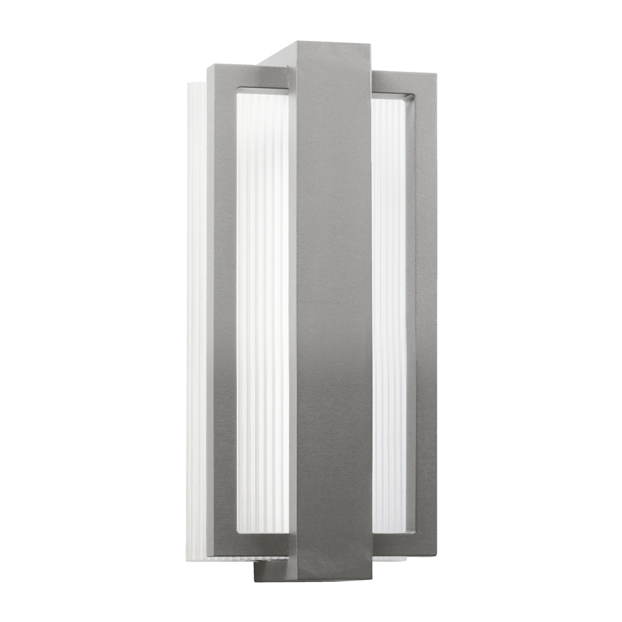 Kichler Sedo 12.25-in H LED Platinum Outdoor Wall Light