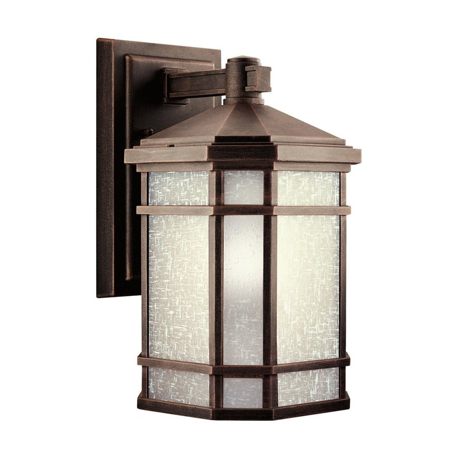 Shop Kichler Cameron 14.25-in H Prairie Rock Outdoor Wall Light at Lowes.com