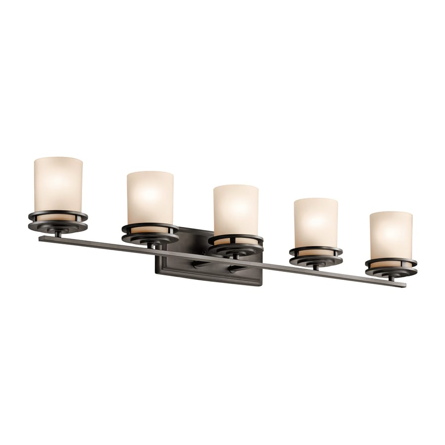 Kichler Hendrik 5-Light 7.75-in Olde Bronze Cylinder Vanity Light