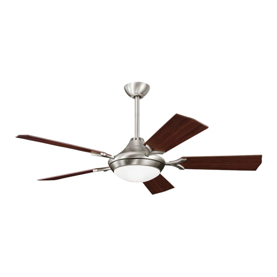Kichler Lighting Bellamy 54-in Antique Pewter Downrod Mount Indoor Ceiling Fan with Light Kit and Remote (5-Blade)