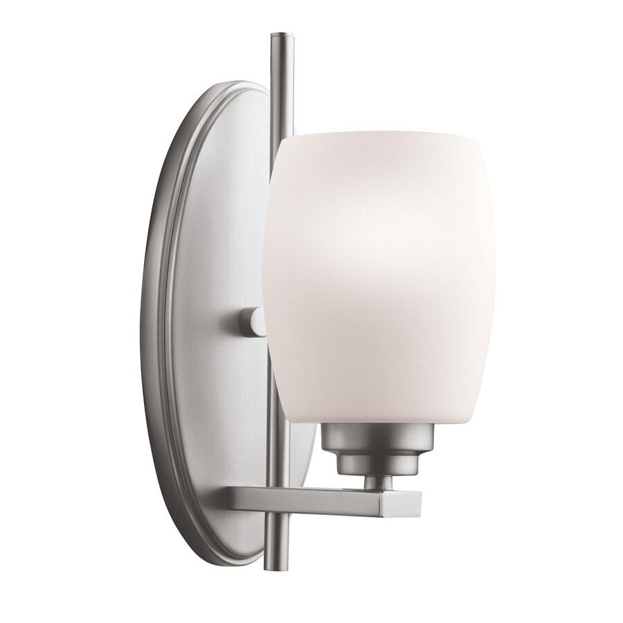 Kichler Eileen 1-Light 10.75-in Brushed Nickel Cylinder Vanity Light
