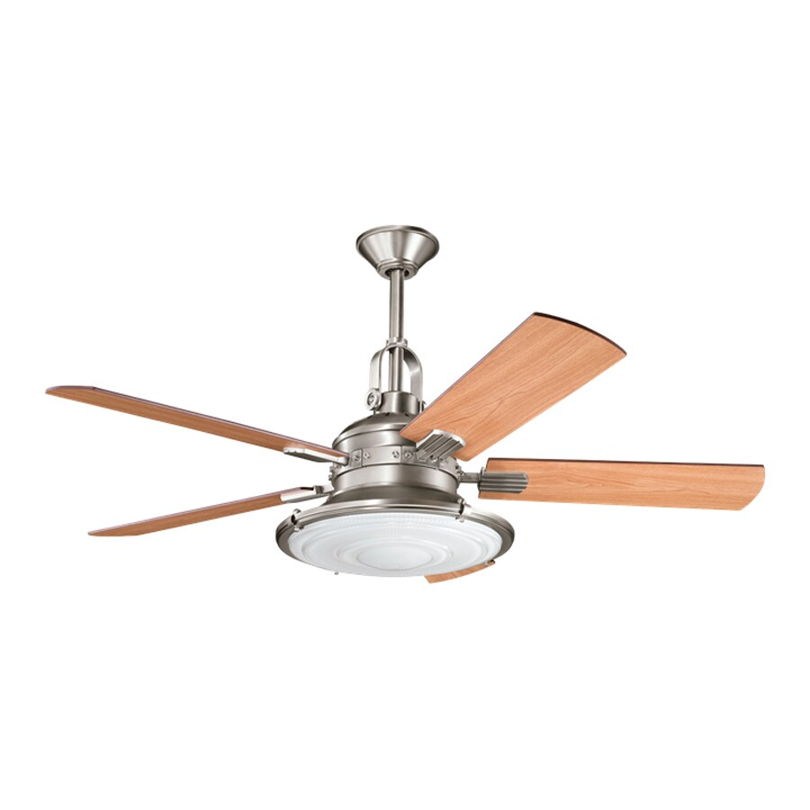 Kichler Kittery Point 52-in Antique Pewter Indoor Downrod Mount Ceiling Fan with Light Kit and Remote