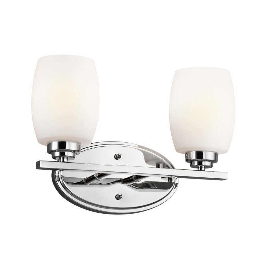 shop kichler eileen 2 light 14 25 in chrome cylinder 13301