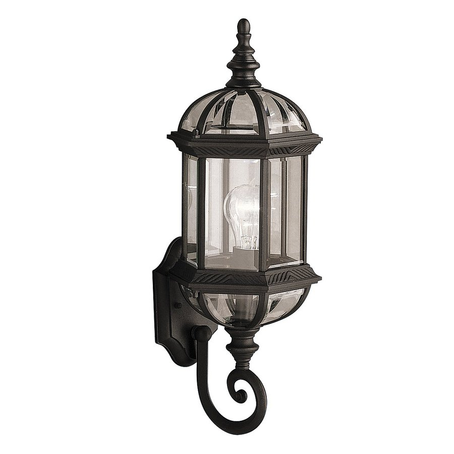 Kichler Barrie 21.75-in H Black Outdoor Wall Light