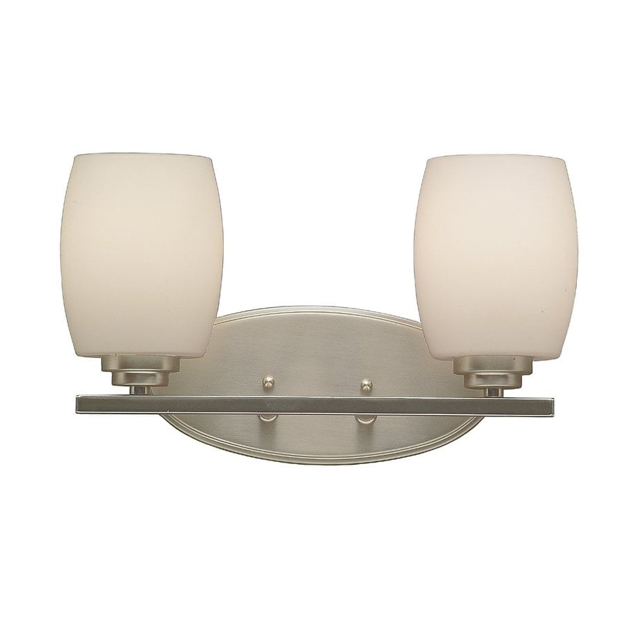 Vanity Lights In Brushed Nickel : Shop Kichler Eileen 2-Light 9.25-in Brushed Nickel Cylinder Vanity Light at Lowes.com