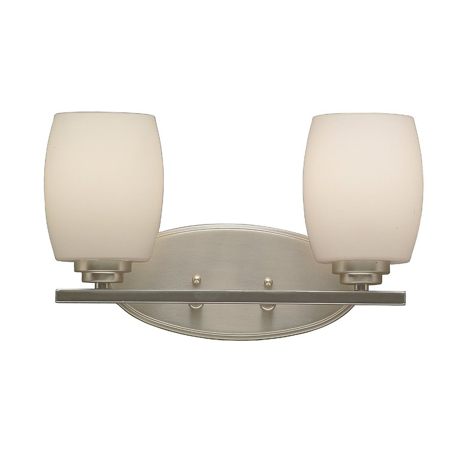 Kichler Eileen 2-Light 9.25-in Brushed nickel Cylinder Vanity Light