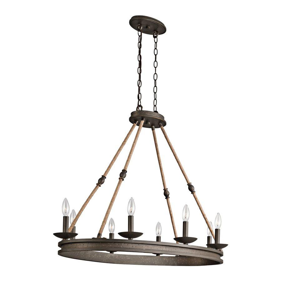 Kichler Kearn 23.75-in 8-Light Olde Bronze Wrought Iron Candle Chandelier