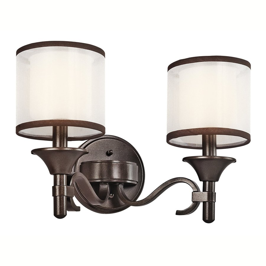 Kichler Lacey 2-Light 10-in Mission bronze Drum Vanity Light