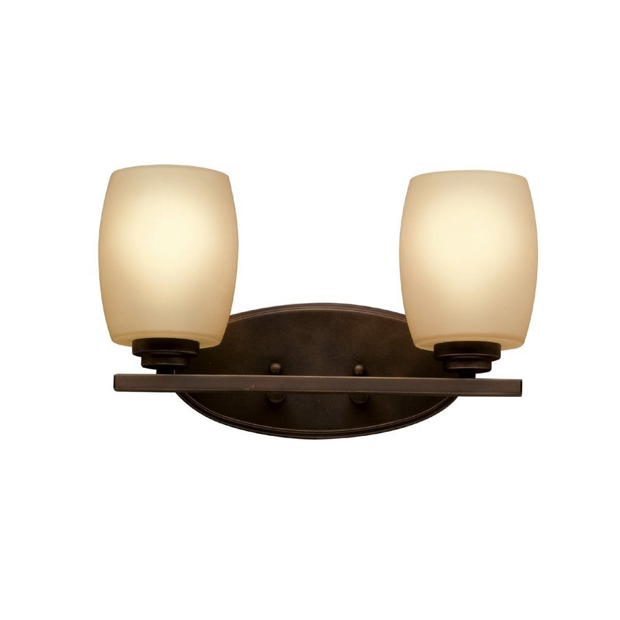 Kichler Eileen 2-Light 9.25-in Olde bronze Cylinder Vanity Light