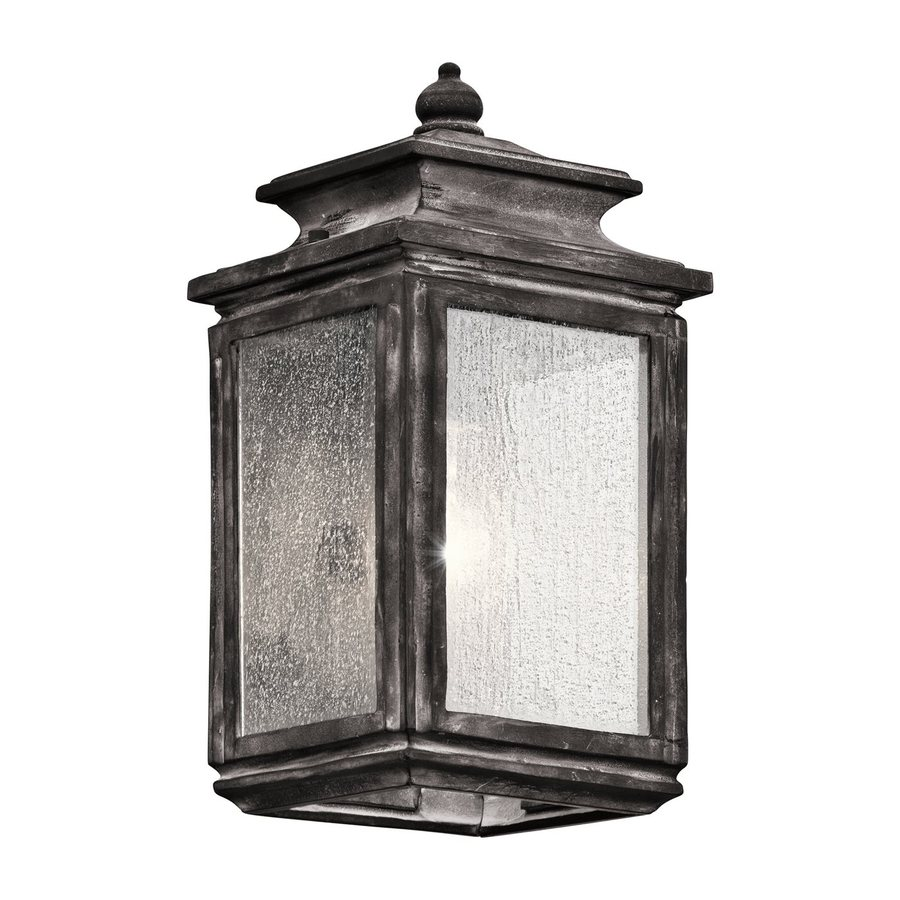 Kichler Wiscombe Park 12.25-in H Weathered Zinc Outdoor Wall Light