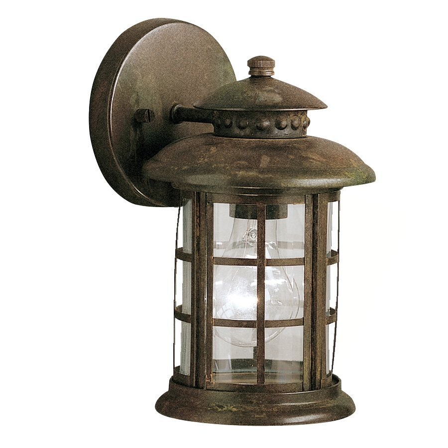 shop kichler rustic 10 in h rustic outdoor wall light at