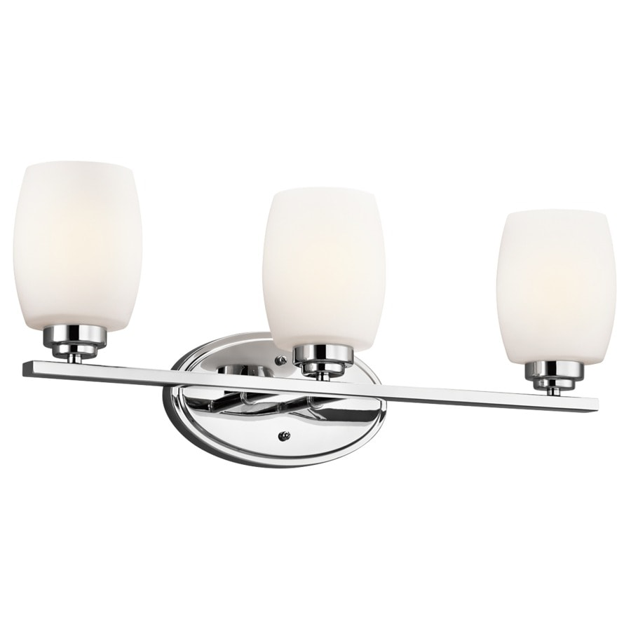 Kichler Lighting Eileen 3-Light 9.25-in Chrome Cylinder Vanity Light