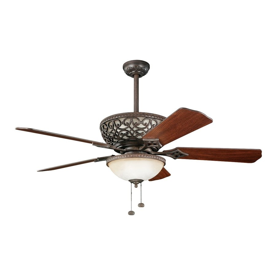 Kichler Lighting Cortez 52-in Tannery Bronze Downrod Mount Indoor Ceiling Fan (5-Blade)