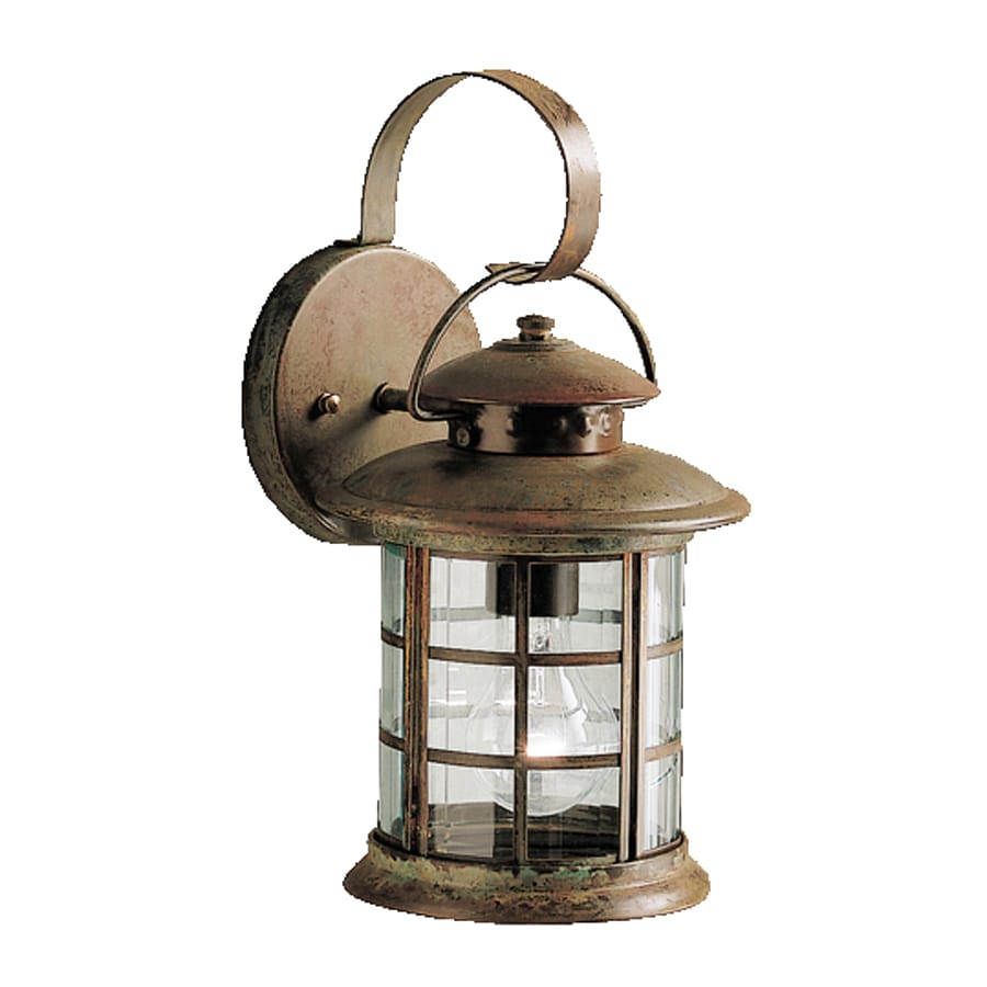 Kichler Rustic 13.25-in H Rustic Outdoor Wall Light  sc 1 st  Loweu0027s : rustic exterior lighting - www.canuckmediamonitor.org
