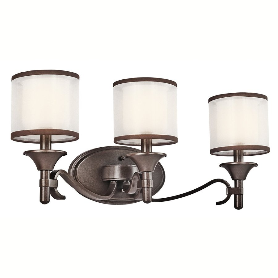 Kichler Vanity Lights Lowes : Shop Kichler Lacey 3-Light 10-in Mission Bronze Drum Vanity Light at Lowes.com