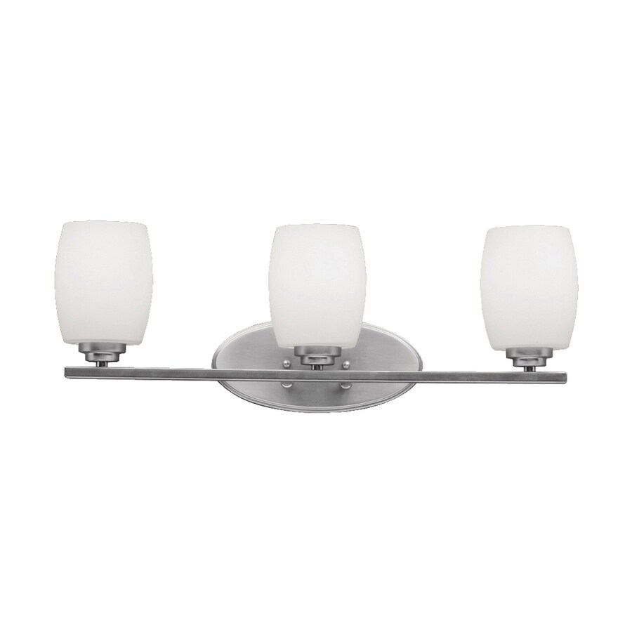 Kichler Lighting Eileen 3-Light 9.25-in Brushed Nickel Cylinder Vanity Light
